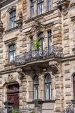 Baroque facade with balcony Stock Images