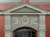 Baroque Facade. Entrance with a baroque ornament Stock Images