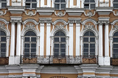 Baroque facade of old building in the historical city Stock Images