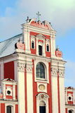 Baroque facade of the parish church Royalty Free Stock Images