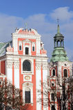 Baroque facade of the parish church Stock Photos
