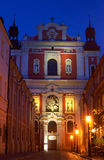 Baroque facade of the parish church Stock Photography