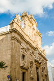 Baroque facade of the Sant'Agata Cathedral in Gallipoli, Italy Royalty Free Stock Photos