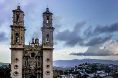 Baroque facade of the Santa Prisca church Stock Photos