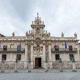 Baroque facade of the University of Valladolid Royalty Free Stock Photo
