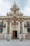 Baroque facade of the University of Valladolid Royalty Free Stock Images
