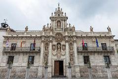 Baroque facade of the University of Valladolid Royalty Free Stock Photography