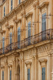 Baroque facades of the buildings in the historic part of Noto Royalty Free Stock Photo