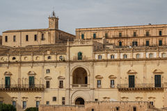 Baroque facades of the buildings in the historic part of Noto Stock Images