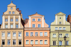 Baroque facades of the Wroclaw Market Square Stock Image