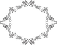 Baroque fine greeting frame. Isolated on white Stock Photography
