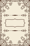 Baroque fine page. On beige Royalty Free Stock Images