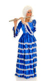 Baroque flautist Stock Photo