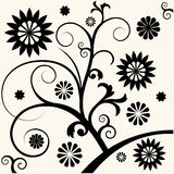 Baroque floral decoration Stock Images