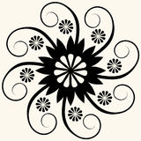 Baroque floral decoration Stock Image