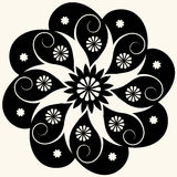 Baroque floral decoration Stock Photography