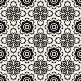 Baroque floral pattern Stock Image