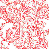 Baroque floral  pattern Royalty Free Stock Photos