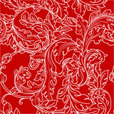 Baroque floral  pattern Royalty Free Stock Image