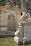 Baroque fountain Kapitelschwemme in Salzburg Stock Photography
