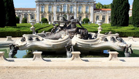 Baroque fountain near National Palace, Queluz Stock Photography