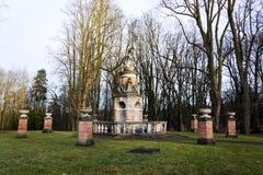 Fountain with Neptune and Tritons statues, Konopiste, Benesov, Czech Republic. Baroque fountain with ruler of sea Neptune and Tritons statues near Konopiste Stock Photos