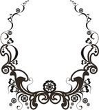 Baroque frame. Baroque elements frame isolated on white Royalty Free Stock Image