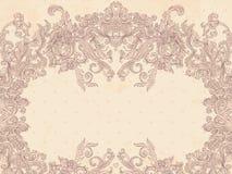 Baroque frame. Glamour vintage baroque patterned frame royalty free illustration