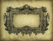 Baroque Frame. Grunge baroque frame, drawn with ink on paper Royalty Free Stock Images