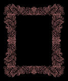Baroque frame on a black background Stock Photography