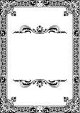 Baroque frame. Solated on white Stock Photo