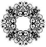 Baroque frame vector. Decorative design with swirling curves on a white background. The curves are in black so that anyone may color the design as he wants. It Royalty Free Stock Photos