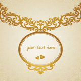 Baroque frame in Victorian style. Vector baroque frame in Victorian style. Element for design. You can place the text in an empty frame. It can be used for Stock Photography