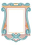 Baroque frames and decorative elements - vintage banner with ribbon vector illustration