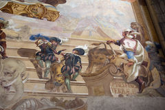 Baroque fresco - allegory of Asia Royalty Free Stock Photography