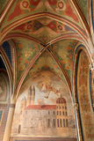 Baroque fresco overlooking Visegrad Stock Photography