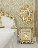 Baroque furniture Royalty Free Stock Images