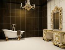 Baroque furniture in bathroom. Interior, royal furniture Stock Illustration