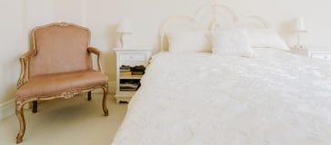 Baroque furniture in luxury bedroom Royalty Free Stock Image