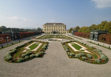 Baroque Garden. At Schoennbrunn Palace in Vienna, Austria royalty free stock image