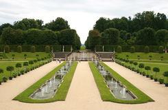 Baroque Garden. The Baroque Garden Großsedlitz was created in 1719 and is considered one of the greatest baroque gardens in Germany. With his many avenues stock images