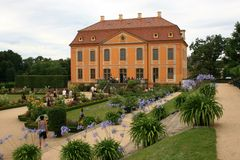 Baroque Garden. The Baroque Garden Großsedlitz was created in 1719 and is considered one of the greatest baroque gardens in Germany. With his many avenues stock photography