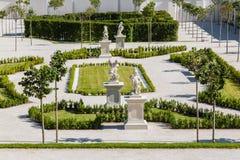 The baroque garden of Bratislava Castle Royalty Free Stock Images