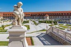 The baroque garden of Bratislava Castle Stock Photo