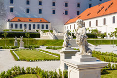 The baroque garden of Bratislava Castle Royalty Free Stock Images