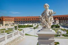 The baroque garden of Bratislava Castle Stock Photos