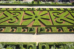 Baroque garden, Castle of Hautefort in France Royalty Free Stock Photography