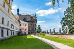 Baroque garden church statues state castle hospital Kuks. Czech republic Stock Photos