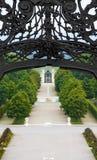 Baroque garden with a fountain Royalty Free Stock Image
