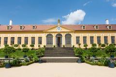 Baroque garden and Friedrich Palace Royalty Free Stock Photos